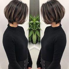 Pin on ショートボブ Asian Haircut Short, Korean Short Hair, Short Brown Hair, Medium Short Hair, Short Hair Cuts, Medium Hair Styles, Curly Hair Styles, Bob Hairstyles For Fine Hair, Cool Hairstyles