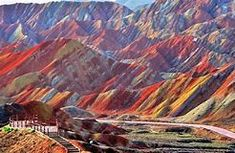 The colorful and grand Danxia Landform in Zhangye, Gansu Rainbow Mountains China, Colorful Mountains, Best Places To Travel, Vacation Places, Places To Visit, Zhangye Danxia Landform, Mountain Wallpaper, China Travel, Famous Places
