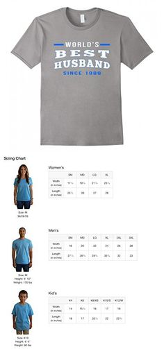 Mens World's Best Husband Since 1988 anniversary gift t-shirt XL Slate