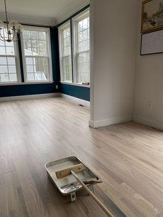 Painted Hardwood Floors, Modern Wood Floors, Red Oak Floors, Diy Wood Floors, Hardwood Floor Colors, Refinishing Hardwood Floors, Diy Flooring, Furniture Refinishing, Red Oak Wood