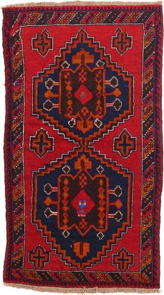 Red 3' 8 x 6' 5 Balouch Rug | $244