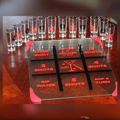 Diy Games, Party Games, Shot Drinking Games, Drunk Games, Alcohol Games, Make Your Own Game, Font Digital, Tic Tac Toe Game, Family Game Night