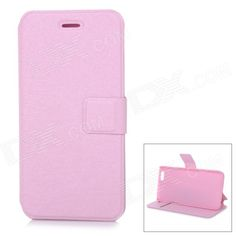 Protective Flip-Open PU Case Cover w/ Stand + Card Slot for IPHONE 6 4.7 - Pink