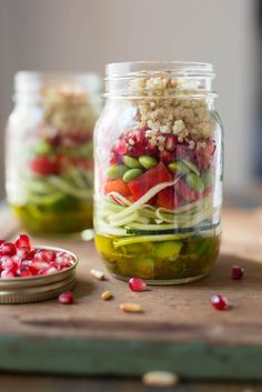 Salade-lunch en pot - K pour Katrine Easy Meals For Two, Meals For The Week, Quick Easy Meals, Brown Butter Sage Sauce, Great Dinner Ideas, Pumpkin Ravioli, Stuffed Shells Recipe, Salad In A Jar, Le Diner