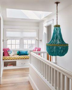 turquoise chandelier | Yorgos Efthymiadis + Reiko Feng Shui Design