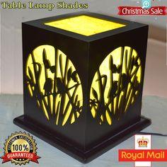 Modern Xmas Gift MDF Nature Style Handmade Lampshade Table Lamps Light Shades UK
