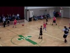Boy makes an amazing, last-second, no-look basketball shot in church league basketball game between two 8th/9th grade teams    Recorded on January 5, 2013 using a Flip Video camera.