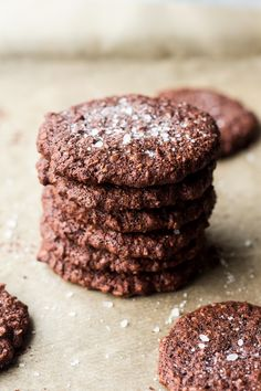 vegan chocolate cookies stacked