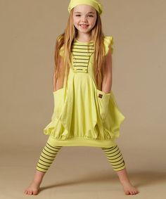 Love this Citrus Stripe Dora Dress - Toddler & Girls by KidCuteTure on #zulily! #zulilyfinds