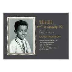 50th Birthday Invitations For Men | 50th Birthday For Men Invites