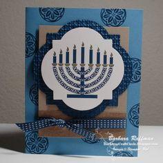 Splitcoaststampers FOOGallery - Hanukkah Card in Midnight Muse Hanukkah Cards, Christmas Hanukkah, Hannukah, Christmas 2015, Winter Cards, Holiday Cards, Christmas Cards, Winter Holidays, Holidays And Events