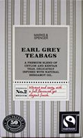 Marks and Spencer Fairtrade Earl Grey Tea 50 Teabags delivered from the UK…