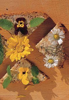 Pan con flores - Flores comestibles: recetas