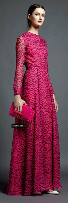 Valentino - love the color & print - Would love to cut this dress just above the knee.