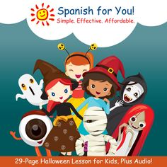 Get our 29-page Halloween Fun Pack - $5.99 Downloadable and filled with games and activities so kids learn how to speak, read, and write about Halloween. AUDIO TOO! CHECK IT OUT: http://www.spanish-for-you.net/shop-holiday.html