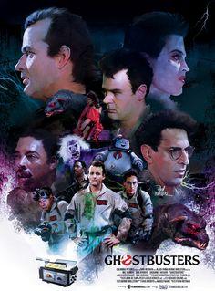 Cool Horror Gear: Striking Ghostbusters poster by Vlad Rodriguez Ghostbusters Poster, Original Ghostbusters, The Real Ghostbusters, Le Revenant, Star Trek, Ghost Busters, Alternative Movie Posters, Movie Poster Art, Cultura Pop