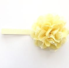 Yellow Flower on Chevron Headband by OnceUponAGrace on Etsy https://www.etsy.com/listing/227051690/yellow-flower-on-chevron-headband