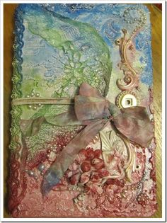 Scraps to Beauty by Zandra making a cover for her Dylusions mini journal; August 2013