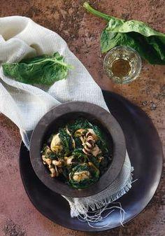Σουπιές με σπανάκι Iron Pan, Chicken, Meat, Kitchen, Food, Cooking, Eten, Kitchens, Meals