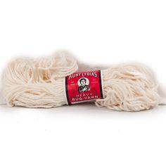 Vintage Aunt Lydias Yarn Heavy Rug #805 White 235 #Crafting #CraftProjects 70 Yard Skein #AuntLydias #RugYarn