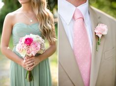 Pink, Mint, and Burlap; love these colors!