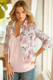 Brushed rose denim jacket
