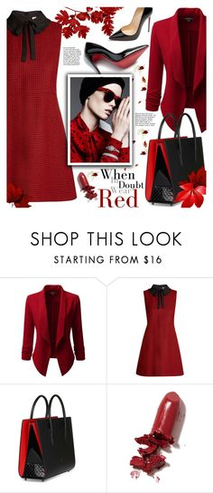 """Wear red!"" by ela79 ❤ liked on Polyvore featuring Doublju, RED Valentino, Christian Louboutin and LAQA & Co."