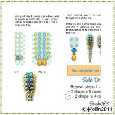 cubic right angle weave  | Step by Step Cubic Right Angle Weave Beading Pattern with full ...