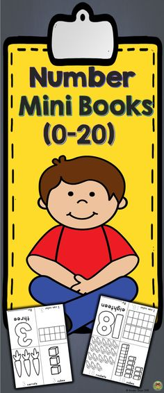 Printable Mini Books provide practice and builds students number sense. Sheets are consistent which makes the practice books understandable for all (teachers, parents and students). Great for centers, independent work and homework. These mini books can be used as an introduction or reinforcement. Packet includes book for numbers 0-20. Just print and fold! No pasting, cutting are stapling required!