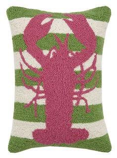 Lobster Stripe Hook Pillow