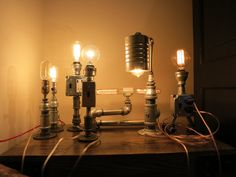 Industrial Chic Pipe Table Lamps by RizzoAndCrane