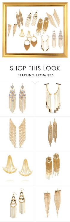 """""""Gold Fringe Earrings..>>"""" by yagna ❤ liked on Polyvore featuring Ben-Amun, Noir Jewelry, Elizabeth and James, Capwell + Co, Arme De L'Amour, Erickson Beamon, Adia Kibur, Kenneth Jay Lane and Ettika"""
