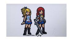Art Fairy Tail, Fairy Tail Anime, Fairytail, Fuse Beads, Perler Beads, Pixel Art Anime, Pearl Beads Pattern, Art Perle, 3d Perler Bead