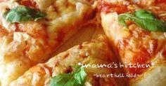 捏ねなし発酵なしの簡単ピザ♪焼き立てはサクッフワッと柔らかく、レンジでチンして粗熱を取るとパリッとモッチリになります^^