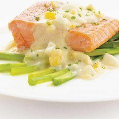 Salmon with Egg Sauce