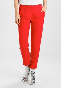 Minimum HALLEE - Tygbyxor - fiery red - Zalando.se