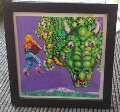 Handmade Framed Space Harrier Pixel Bead Art. by PixelBeadPictures, £49.99