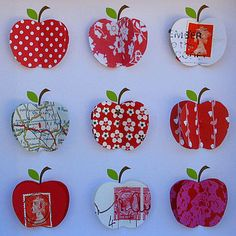 Cute bedroom art #OobiBaby. I really like the apple with the map.