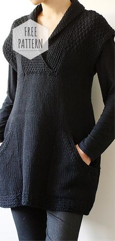 Ebony Pocket Dress Free Pattern People who are unfamiliar with yarn crafting often confuse knitting and crochet. Diy Crochet Cardigan, Knit Crochet, Crochet Baby, Knitting Patterns Free, Knit Patterns, Free Pattern, Jewelry Patterns, Sewing Shirts, Diy Kleidung