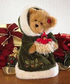NWT Boyds Bears Plush HOLLY BEAR OF THE MONTH 919895 Christmas Cardinal