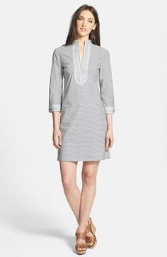 Tory Burch 'Tory' Stretch Poplin Minidress available at #Nordstrom