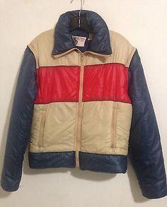 Vintage Silton California Mens 70's Puffer Ski Jacket Vest Size M