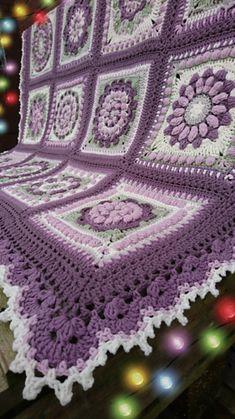 a knit and crochet community Crochet Bedspread Pattern, Baby Afghan Crochet Patterns, Crochet Square Blanket, Crochet Mandala Pattern, Granny Square Crochet Pattern, Crochet Squares, Crochet Afghans, Crochet Blankets, Granny Squares
