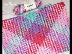 Crochet Color Pooling Baby Blanket With Granny Stitch - Easy Tutorial