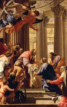 """""""Presentation In The Temple"""" by Simon Vouet {1590-1649}"""