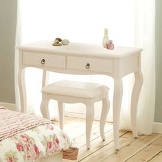 Buy Isabella® Ivory Dressing Table And Stool Set from the Next UK ...