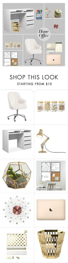 """""""Home Office"""" by aliss-15 ❤ liked on Polyvore featuring interior, interiors, interior design, home, home decor, interior decorating, PBteen, Argento SC, Anglepoise and Improvements"""
