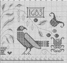 Cross Stitch Sampler Patterns, Free Cross Stitch Charts, Cross Stitch Freebies, Embroidery Sampler, Felt Embroidery, Cross Stitch Samplers, Cross Stitch Designs, Cross Stitch Embroidery, Cross Stitch Gallery