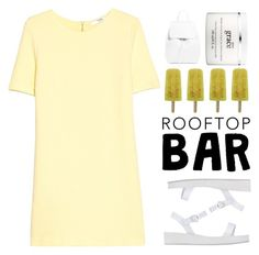 """Pure Grace"" by painterella on Polyvore featuring MANGO, Ancient Greek Sandals, Mansur Gavriel, philosophy, summerdate and rooftopbar"