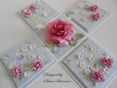 Selma's Stamping Corner and Floral Designs: Explosion Box using Susan's Garden Rose Dies For Tombow